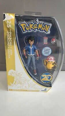 £17.77 • Buy Ash And Pikachu Pokemon Figure Set 2016 Limited Edition 20th Anniversary TOMY