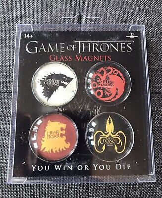 £2.39 • Buy Game Of Thrones Glass Magnets Set Of 4 Winter Is Coming Fire And Blood Collect