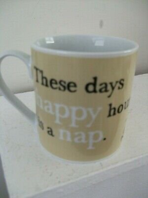 £4.99 • Buy PAST TIMES Mug 'Happy Hour Is A Nap'