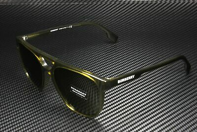 $76.99 • Buy BURBERRY BE4302F 335673 Square Plastic Olive Green Brown 56 Mm Men's Sunglasses