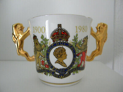 £6 • Buy Paragon Bone China Loving Cup  Queen Mother 80th 1900 -1980