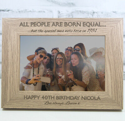 £11.99 • Buy Personalised Photo Frame Birthday Gift 18th 21st 30th 40th 50th