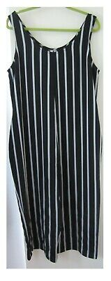 £10.99 • Buy Asos Black And Vertical Silver Striped Sleeveless Jumpsuit  Size 16 Uk  44 Eu