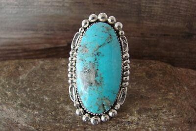 £144.19 • Buy Navajo Indian Jewelry Sterling Silver Turquoise Ring Size 11 - Delgarito