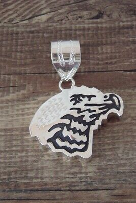 £93.72 • Buy Navajo Jewelry Sterling Silver Eagle Pendant - A. Mariano