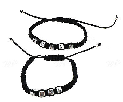 £3.47 • Buy Couples Bracelet King And Queen Matching Lovers Girlfriend Boyfriend Braid Chain