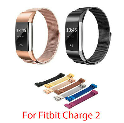 AU8.99 • Buy Milanese Strap For Fitbit Charge 2 Smart Watch Band Steel Loop SMALL / LARGE
