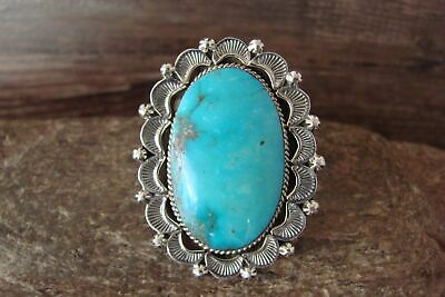 £144.19 • Buy Navajo Indian Jewelry Sterling Silver Turquoise Ring Size 6.5 - Delgarito