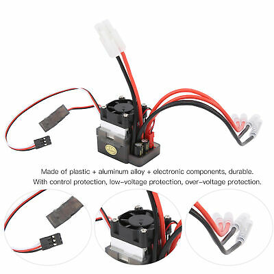 £11.99 • Buy RC TwoWay Brushed ESC 7.2‑16V 320A Spare Parts For RC Car Boat Model Accessories