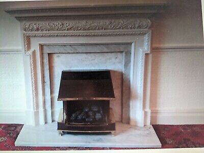 £25 • Buy Marble Back And Hearth And Plaster Fire Surround