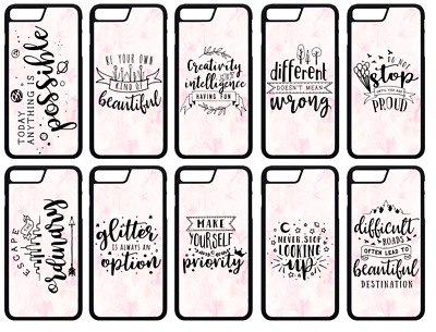 AU9.19 • Buy INSPIRATIONAL QUOTES Pastel Pink Marble Effect Background Phone Case Cover Skin