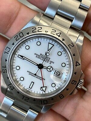 $ CDN12582.20 • Buy Rolex Explorer II White Swiss Only Dial 16570 Stainless Steel With Box