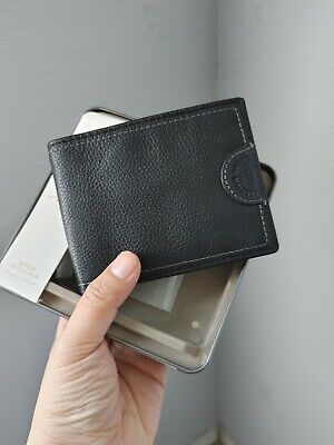 $35 • Buy Fossil Men's Leather Watts Bifold Wallet With Flip ID - Black - New In Box