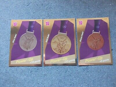 £2 • Buy  Panini London Olympics 2012 Medal Cards Gold,Silver & Bronze Nos 348/349/350