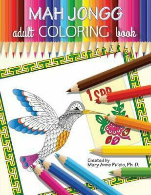 $15.78 • Buy MAH JONGG Adult Coloring Book, Brand New, Free Shipping In The US