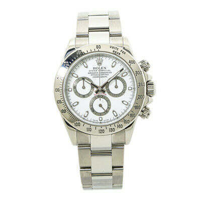$ CDN27688.40 • Buy Rolex Daytona 116520 Cosmograph D Serial White Dial Stainless Mens Watch 40MM