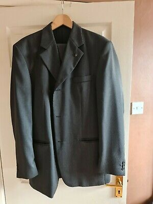 £10 • Buy Mens Horne Brother Stripped Single Breasted Suit Size 42L Trousers 36L
