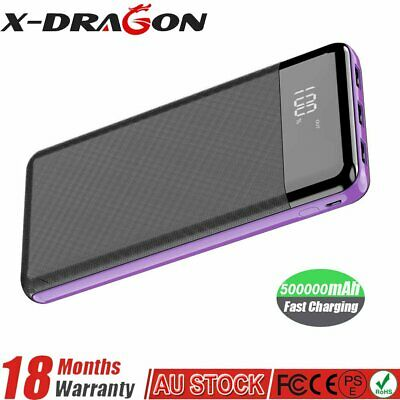 AU28.89 • Buy 500000mAh Power Bank Universal Dual USB Type C Input Fast Charge Battery Charger