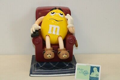 $4.99 • Buy Vintage M&M Yellow Peanut In Lounge Chair Candy Dispenser 1999