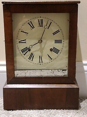 $74.99 • Buy Antique 19th C. Early American Mechanical Wind-Up Cottage Mantel Shelf Clock