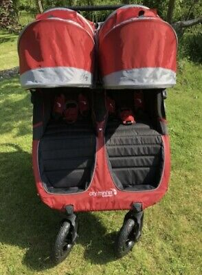 £21 • Buy Baby Jogger City Mini GT.  Twin/Double  Crimson/Red Pushchair/Buggy/Stroller