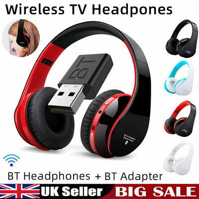 £16.79 • Buy Bluetooth Wireless 9D Stereo Headphones TV Headset Over Ear For IPhone Samsung