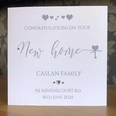 £2.99 • Buy Handmade Personalised New Home Card 1st Home Card Any Name Address Can Be Added