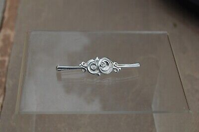 £27.99 • Buy Ola Marie Gorie OMG Sterling Silver Bar Brooch. Double Rose. Made In Scotland.