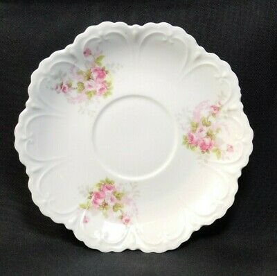 $11.99 • Buy M.Z. AUSTRIA Delicate Porcelain Replacement Saucer Pink Roses Pattern VGC