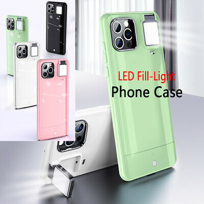 AU26.77 • Buy For IPhone 12 11 Pro MAX LED Fill-Light Phone Case Cover With Selfie Ring Light