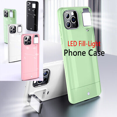 AU27.39 • Buy For IPhone 13 12 11 Pro MAX LED Fill-Light Case Cover With Selfie Ring Light