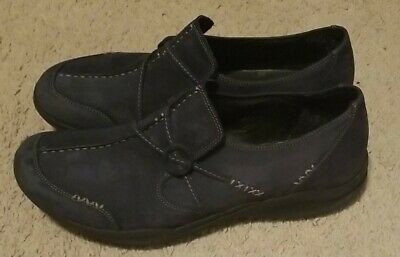 £12.90 • Buy Women's Clarks Wave Run Slip On Blue/Gray Leather Size 11M Loafers Comfort Shoes