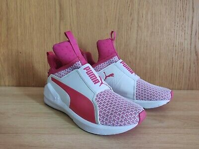 AU95 • Buy Puma Shoes White & Pink Colour  Women Sneakers  Size 6 (US) Pre-owned