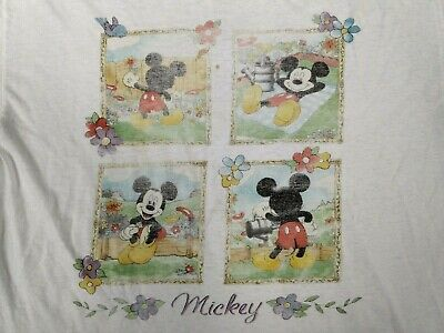 £10.74 • Buy 90s Mickey Mouse Gardening T Shirt Vtg Disney Summer Tee Unlimited Jerry Leigh L