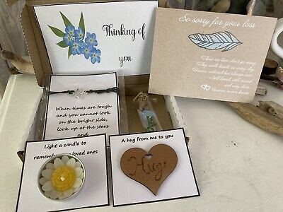 £8.99 • Buy Sympathy Bereavement Sorry For Loss Personalised Gift Box Letterbox