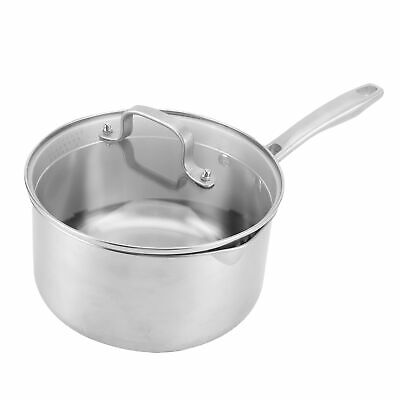 £40.18 • Buy 2.5L Stainless Steel Large Catering Cooking Stock Pot Pans With Handles & Lids