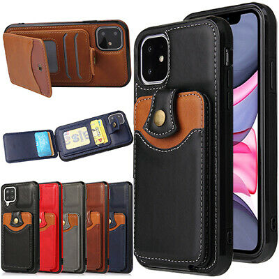AU13.39 • Buy For IPhone 12 Pro 11 Max 8/7 Plus SE XR XS Case Leather Wallet Back Card Cover