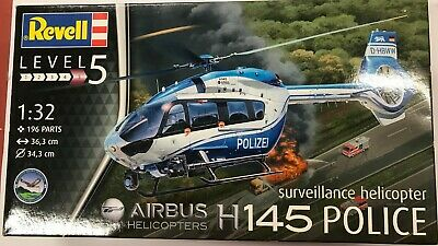 £31.99 • Buy Revell 1/32 Scale Airbus H145 Police Surveillance Helicopter Kit (04980)