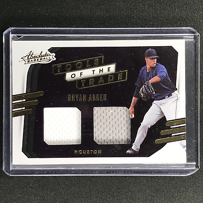 AU14.99 • Buy 2021 Absolute BRYAN ABREU Tools Of The Trade 2 Swatch Dual Jersey #BA (A)