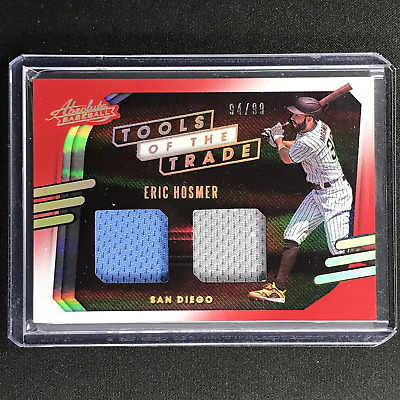 AU19.99 • Buy 2021 Absolute ERIC HOSMER Tools Of The Trade 2 Swatch Dual Jersey Red 94/99
