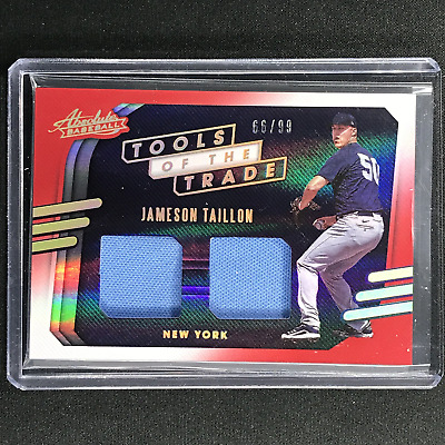 AU19.99 • Buy 2021 Absolute JAMESON TAILLON Tools Of The Trade 2 Swatch Dual Jersey Red 66/99