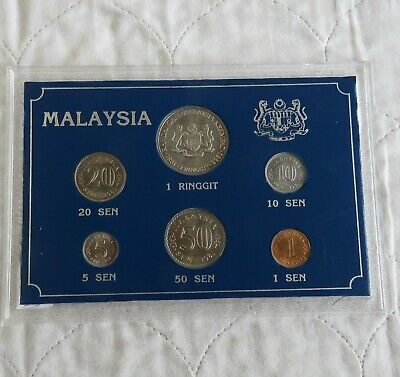 £18.95 • Buy MALAYSIA 6 COIN UNCIRCULATED TYPE SET - Perspex Case