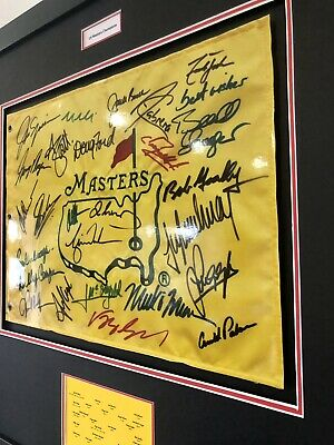£125 • Buy Golf - Signed US Masters Champions Framed With COA