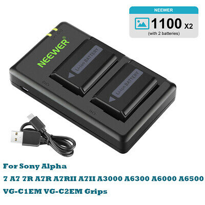 £45.99 • Buy Neewer NP-FW50 Camera Battery Charger Set For Sony A6000, A6500, A6300, A6400,A7