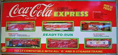 £90.76 • Buy 251997 First Edition Coca Cola 0-27 Gauge Electric Train Set Express In Box