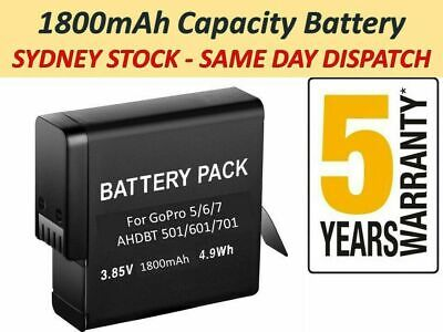 AU27.98 • Buy GoPro HERO8 9 7 6 5 Battery Go Pro High Capacity Replacement Batteries +Warranty