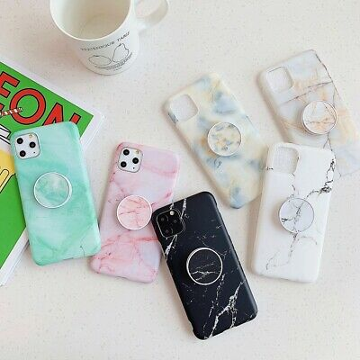 AU12.34 • Buy Marble Matte Phone Case With Stand Holder For IPhone 12 11 Pro Max XS XR 7/8/SE2
