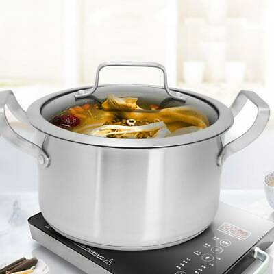 £33.03 • Buy Stainless Steel Large Catering Cooking Stock Stew Pot With Handles & Lid Camping