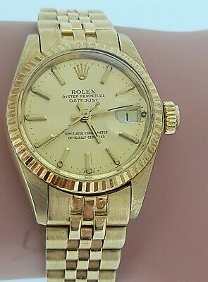 $ CDN8568.98 • Buy Rolex Date Just 26mm -18ct Gold - Vintage 1976 With Box -12 Month Warranty