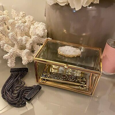 £17.99 • Buy Rectangle All-Natural Agate Stone Jewellery Accessory Storage Display Box
